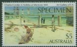 AUS SG779s $5 A Holiday at Mentone overprint SPECIMEN